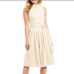 ANTONIO MELANI Bella Pleated Tie Waist Midi Dress